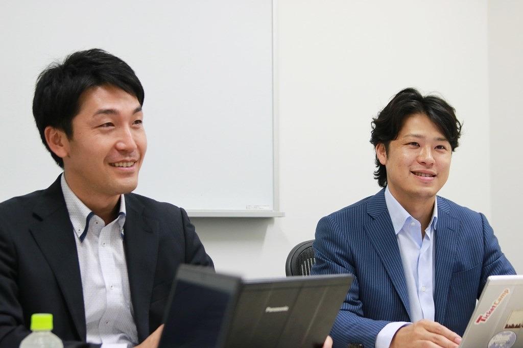 Bridgeグループ COO・大庭氏(左)、CEO・宮崎氏(右)