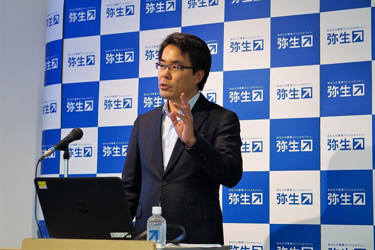 弥生株式会社 代表取締役社長 岡本浩一郎氏